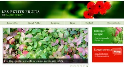 site petits fruits daniel duret