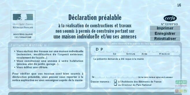 D claration de travaux pour la piscine exemple de document jardipartage - Exemple de plan de coupe ...