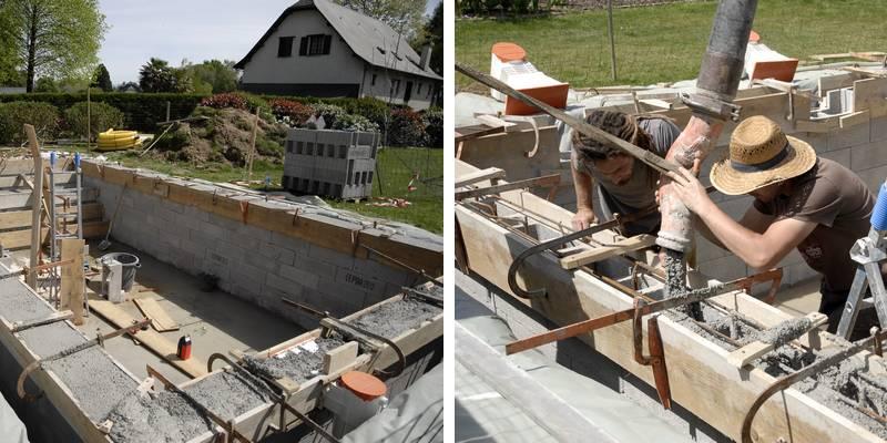 couler piscine beton