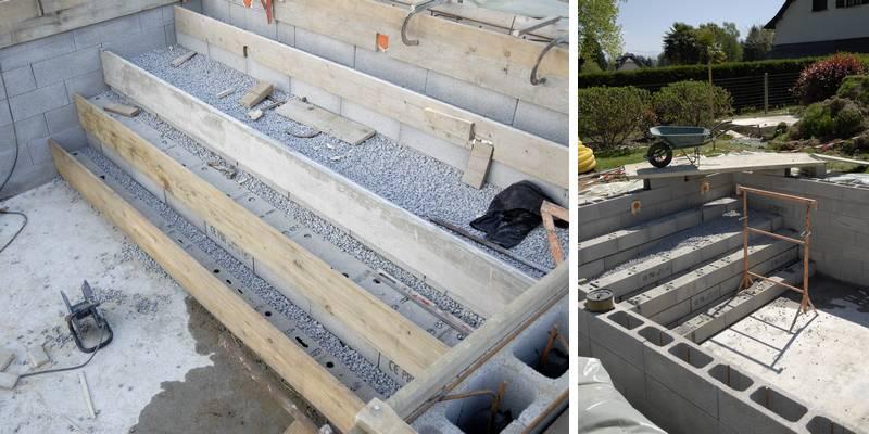 Comment construire un escalier de piscine b ton jardipartage for Faire construire une piscine