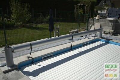 Installer un volet de piscine hors sol jardipartage - Installation volet roulant ...