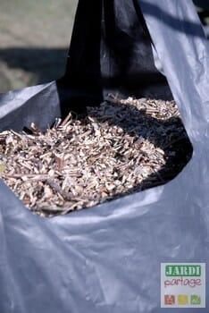 brois rameal fragmente en sac