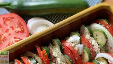 tian de legumes mozarella