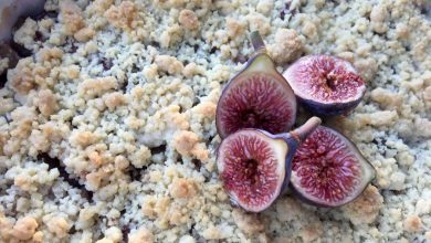 Crumble figues pommes
